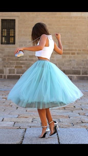 skirt long skirt maxi skirt tutu blue skirt puffy puffy skirt cute skirt tumblr skirt dress