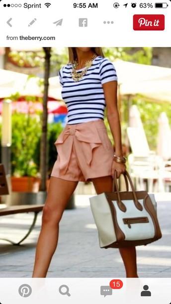 shorts shorts! pink bow shorts