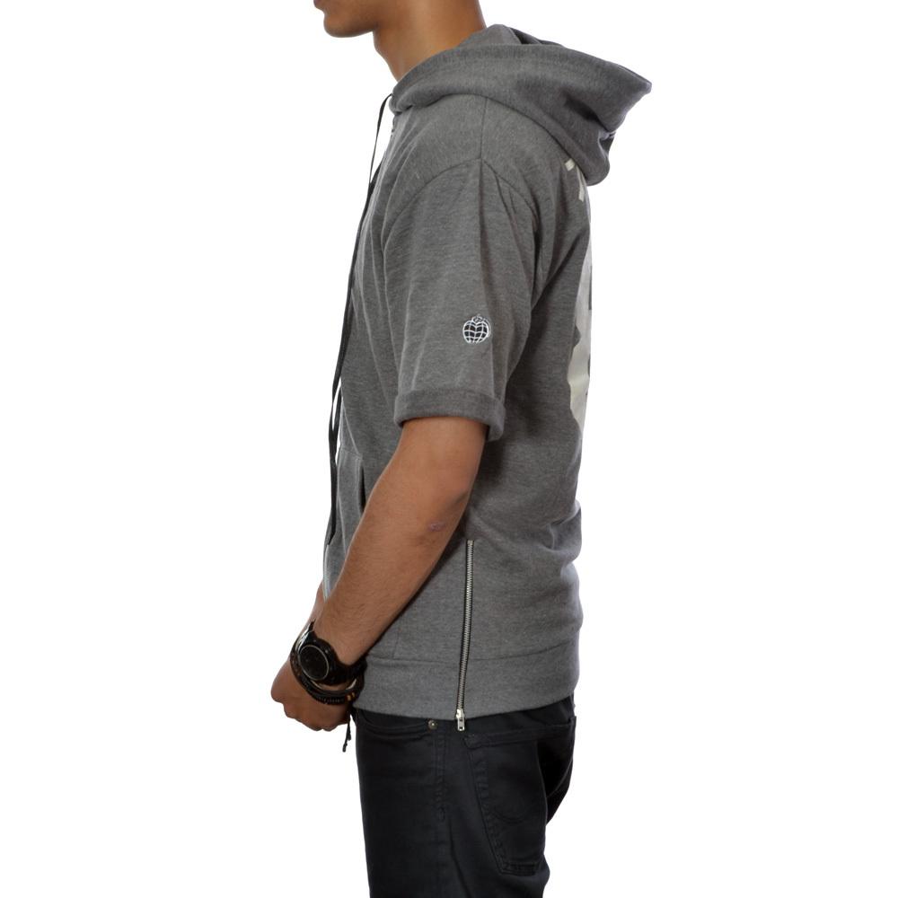 Original 86 short sleeve zip hoody (grey heather)