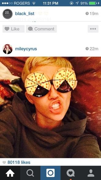 sunglasses miley cyrus pizza