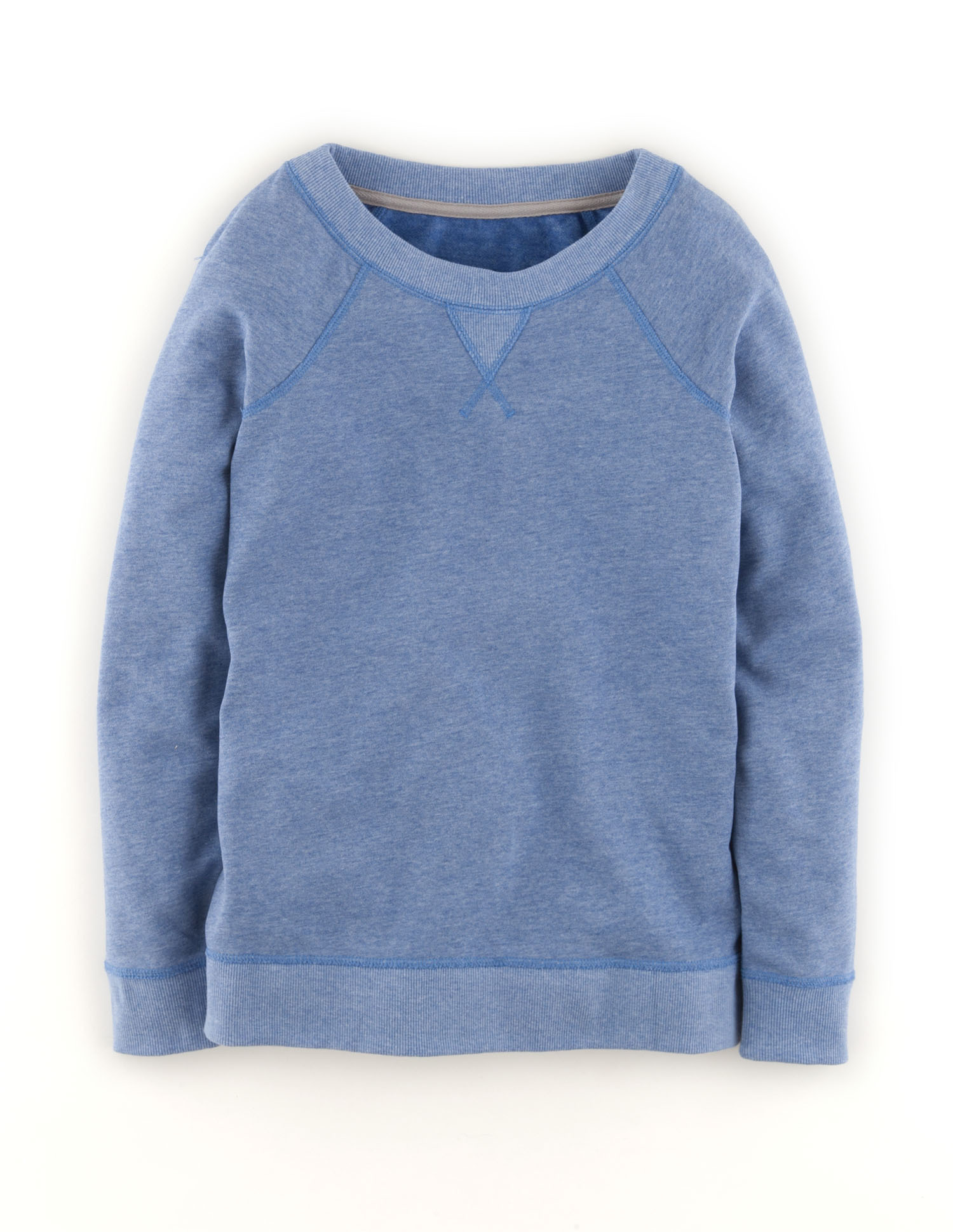 Raglan Sweatshirt (Blues Painted Floral)