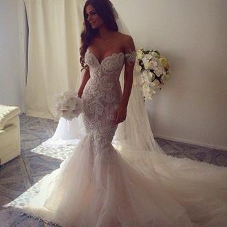dress wedding dress lace wedding dress white wedding dress beautiful gown white wedding dress white lace dress white lace