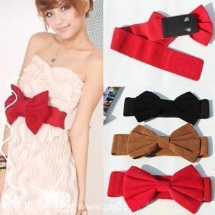 Beautiful velvet bow cummerbund female all match red ultra wide one piece dress belt-inBelts & Cummerbunds from Apparel & Accessories on Aliexpress.com