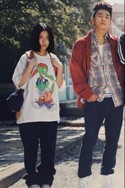 shirt dohee kpop jacket kpop t-shirt harem pants pants