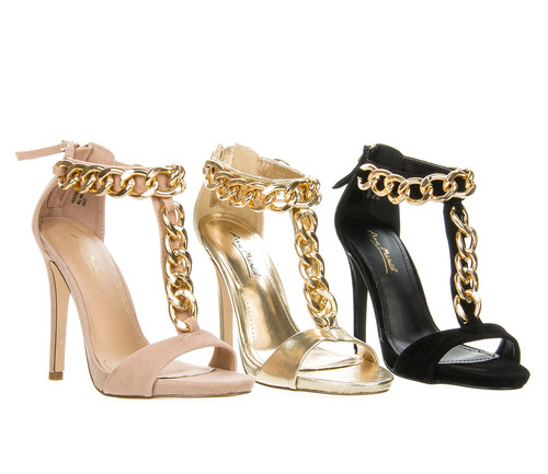 New Anne Michelle Women Chain Link Ankle Strap Classy Dress Sandal Shoe PERTON20 | eBay