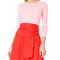 Carven long sleeve dress - red/pink