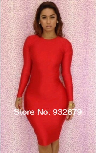 New 2013 Sexy Women Long Sleeve Backless Slim Fit Bodycon Clubwear Dress Sexy Bandage Pencil Dresses New style LYQ1376-in Dresses from Apparel & Accessories on Aliexpress.com