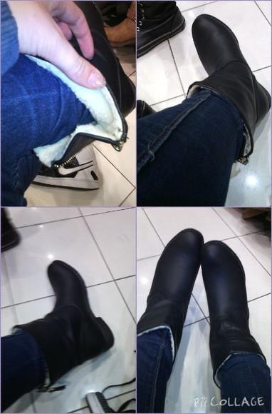 zipper boots fur faux fur teddy winter boots
