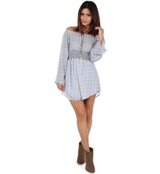 dress floral ditsy floral dress tunic dress long sleeves shirred