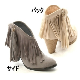 Buy free shipping wholesale new sexy 2010 wild scrub tassel thick heels shoes us5
