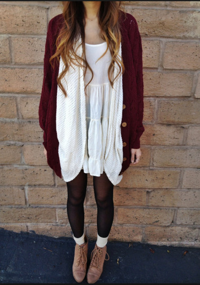 adorable burgundy cardigan burgundy sweater long