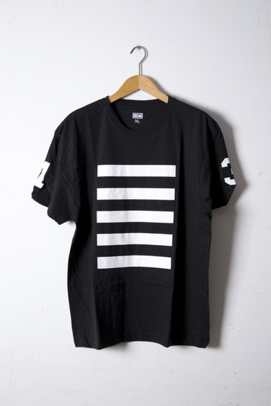 black shirt black shirt tumblr hipster indie what stripes numbers number tee