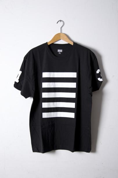 071c28dc77df6 shirt black black shirt tumblr hipster indie what stripes number number tee  t-shirt white