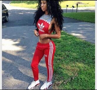 jumpsuit red jumpsuits adidas tracksuit