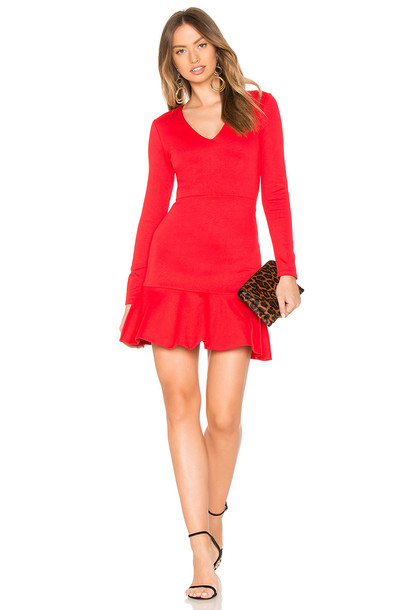 alice + olivia dress red