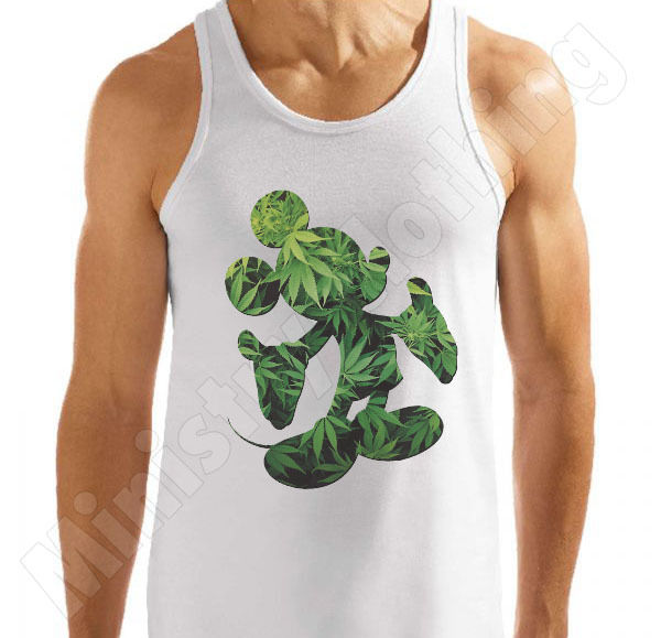MICKEY MOUSE HANDS VEST T SHIRT CANNABIS YMCMB WEED DISOBEY DOPE T-SHIRT TOP NEW | eBay