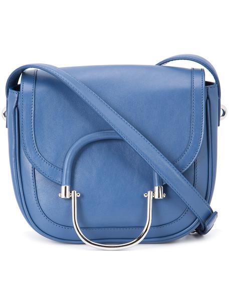 DEREK LAM 10 CROSBY women leather blue bag