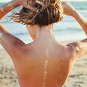 temporary tattoo,beach wedding