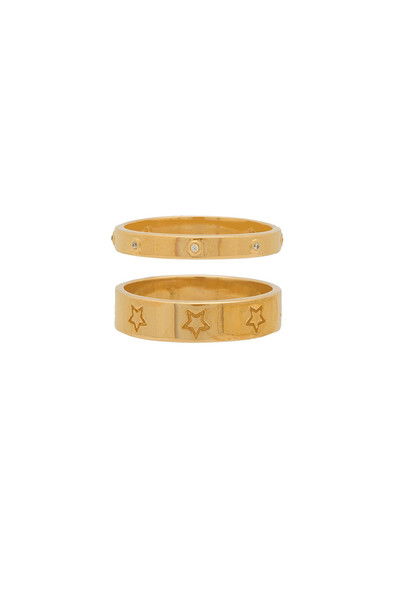 joolz by Martha Calvo Star Band Ring Set in gold / metallic
