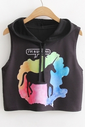 top,fashion,style,hoodie,crop tops,rainbow,unicorn