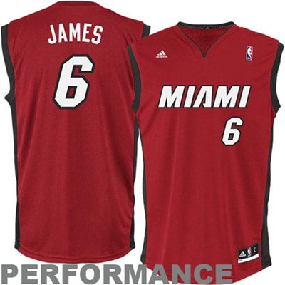 adidas LeBron James Miami Heat Revolution 30 Performance Jersey - Red - NBA Store