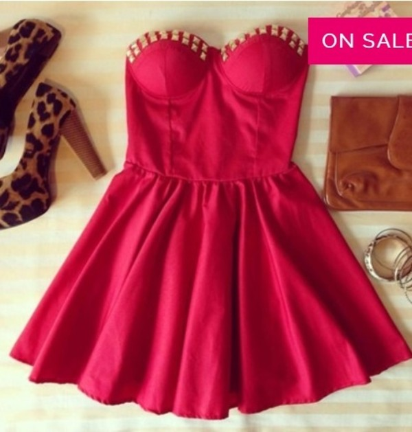 dress red dress summer fashion red dress