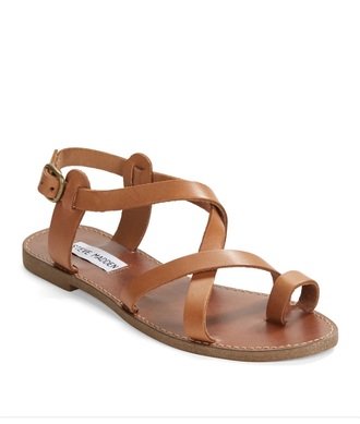shoes leather brown sandals steve madden flat sandals cute sandals