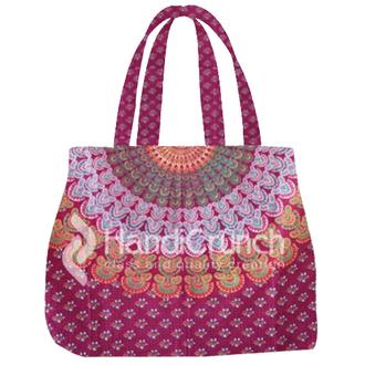 bag handbag tote bag mandala