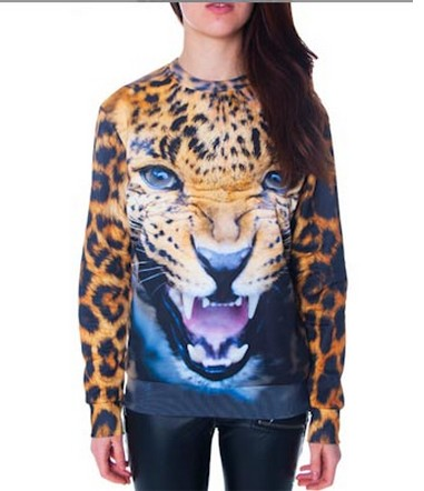 2013 Winter Women 3D Printing Animal Hoodies Harajuku Tiger Leopard Sweatshirts Brand Hoodies & Sweatshirts Women Winter Coat-in Hoodies & Sweatshirts from Apparel & Accessories on Aliexpress.com