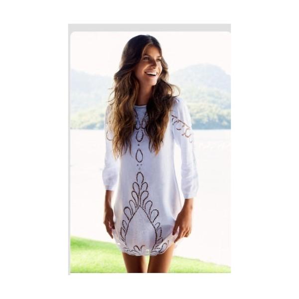 dress white dress swim minidress hippie white lace dress festival dress