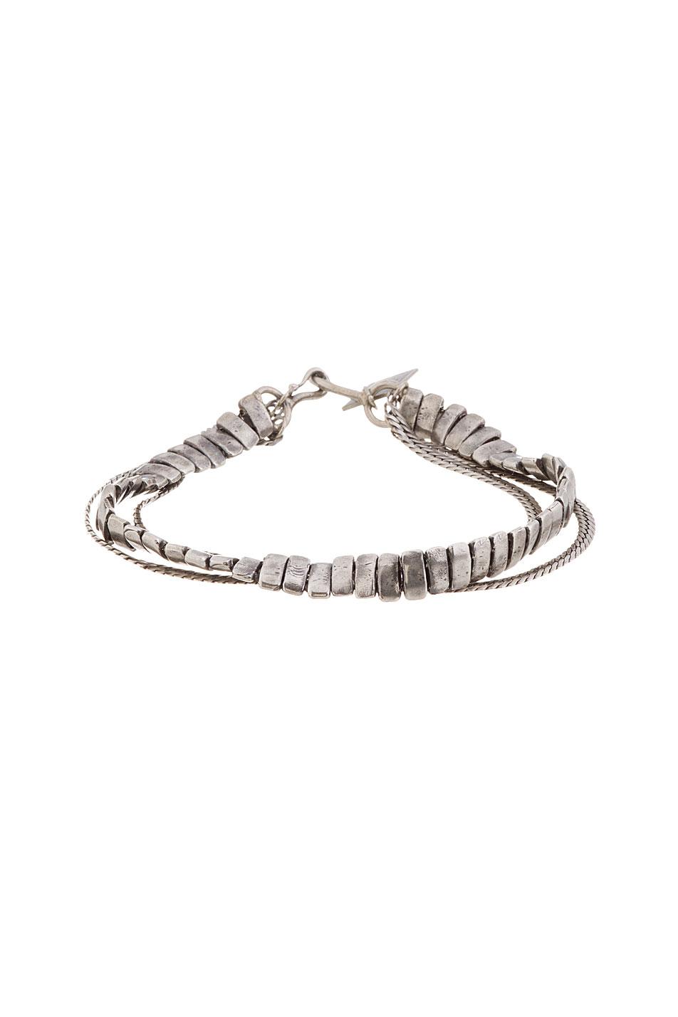Goti antiqued silver flat chain bracelet