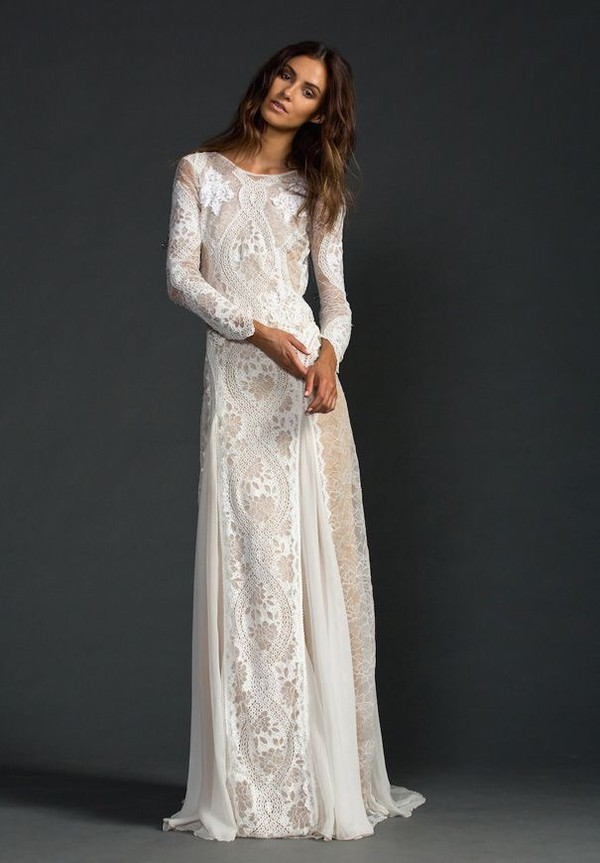 Dress: white, wedding, boho, hippie, prom, ball, me, love, lace ...