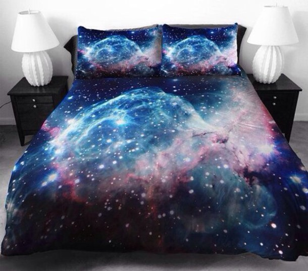bedding galaxy print starry night pajamas