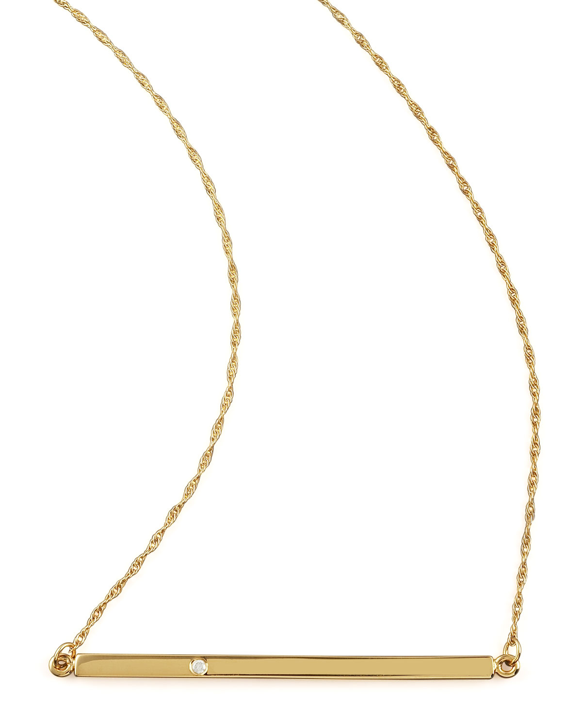 Jennifer Zeuner Bar-Pendant Necklace