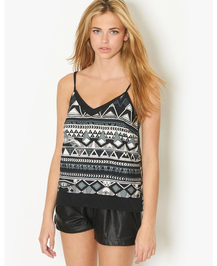 Noisy May Aztec Cami Top | BANK Fashion