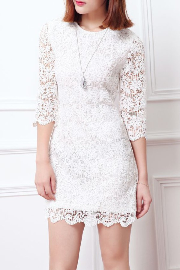 dress dezzal white white dress lace dress fashion summer mini dress summer outfits