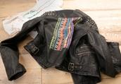 black,leather,aztec,studs,jacket,belt