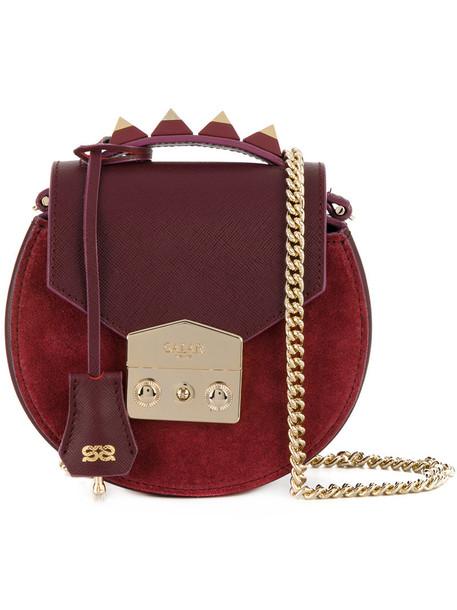 Salar women bag shoulder bag leather suede red