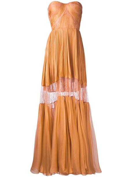 9395df0e78e0 Maria Lucia Hohan Maria Lucia Hohan - Celia dress - women - Silk/Nylon/Spandex/Elastane  - 38, Yellow/Orange, Silk/Nylon/Spandex/Elastane