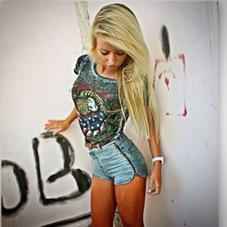 top watch high waisted shorts guns and roses