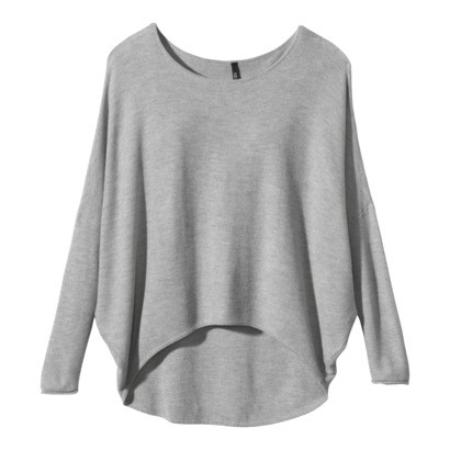 Women's Dolman Sleeve High- Low Pullover Sweater - Gray | Keep.com