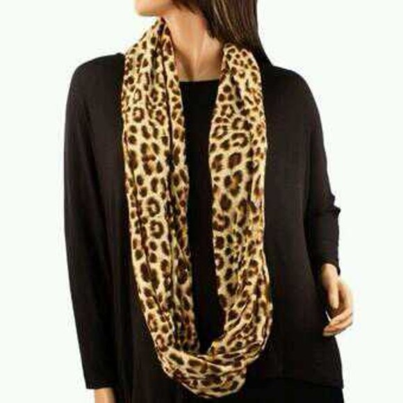 scarf cheetah print cute