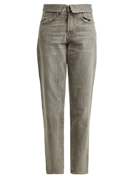 Jean Atelier - Flip Fold Over Jeans - Womens - Light Grey