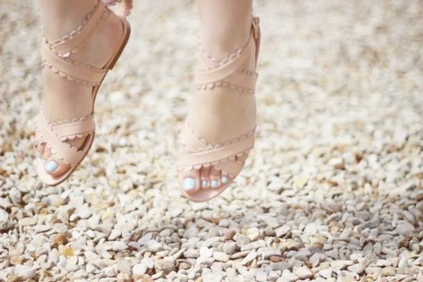 see by chloe chloé nude sandals nude nude shoes sandals flat sandals shoes