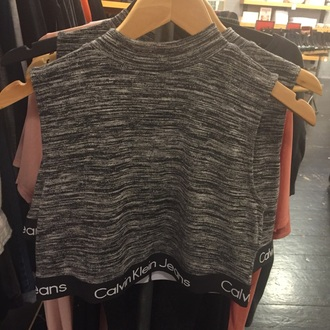 top sleeveless calvin klein nike adidas grey black white
