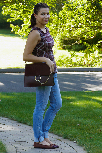 closetfashionista blogger top jeans bag