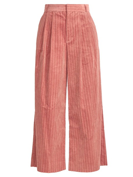 muveil cropped cotton pink pants