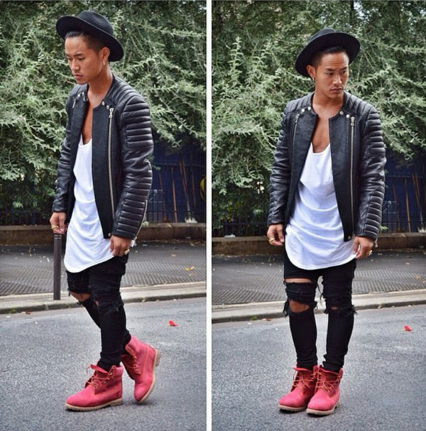 how to wear timberlands men