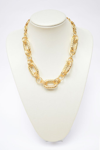Sara Chain Style Gold Necklace - Pop Couture