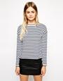 Asos long sleeve stripe top at asos.com